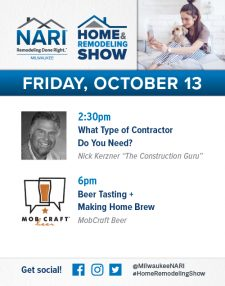 Signage NARI Milwaukee Ad for 2017 Home & Remodeling Show: Friday