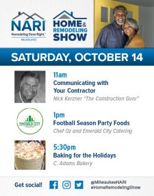Signage NARI Milwaukee Ad for 2017 Home & Remodeling Show: Sunday