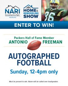 Signage NARI Milwaukee Ad for 2017 Home & Remodeling Show: Autographed Football Sign