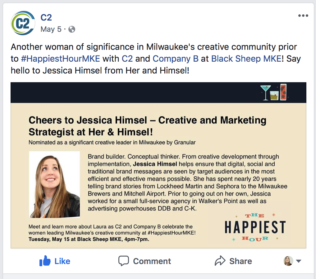 Jessica Himsel honored as Woman of Significance – The Happiest Hour