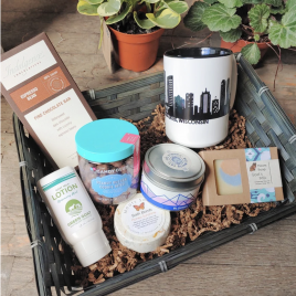 Whether your mom is a wine lover or a coffee lover, you'll find a gift basket perfect for her. Check out these expertly curated gift baskets from Sparrow Collective featuring locally made and sourced products and treats.